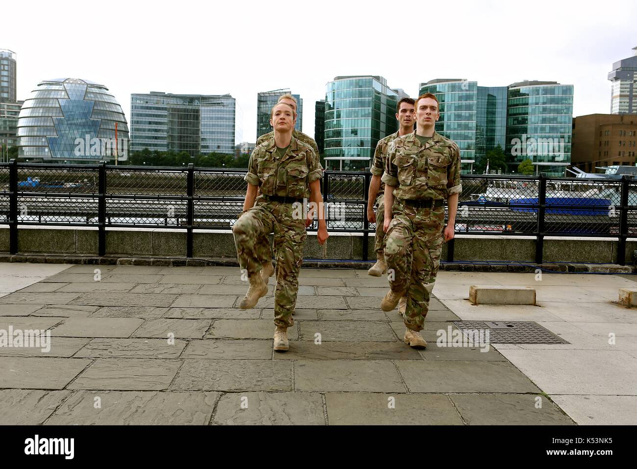 5 Soldiers by Rosie Kay The body is the frontline ... - Stock Image