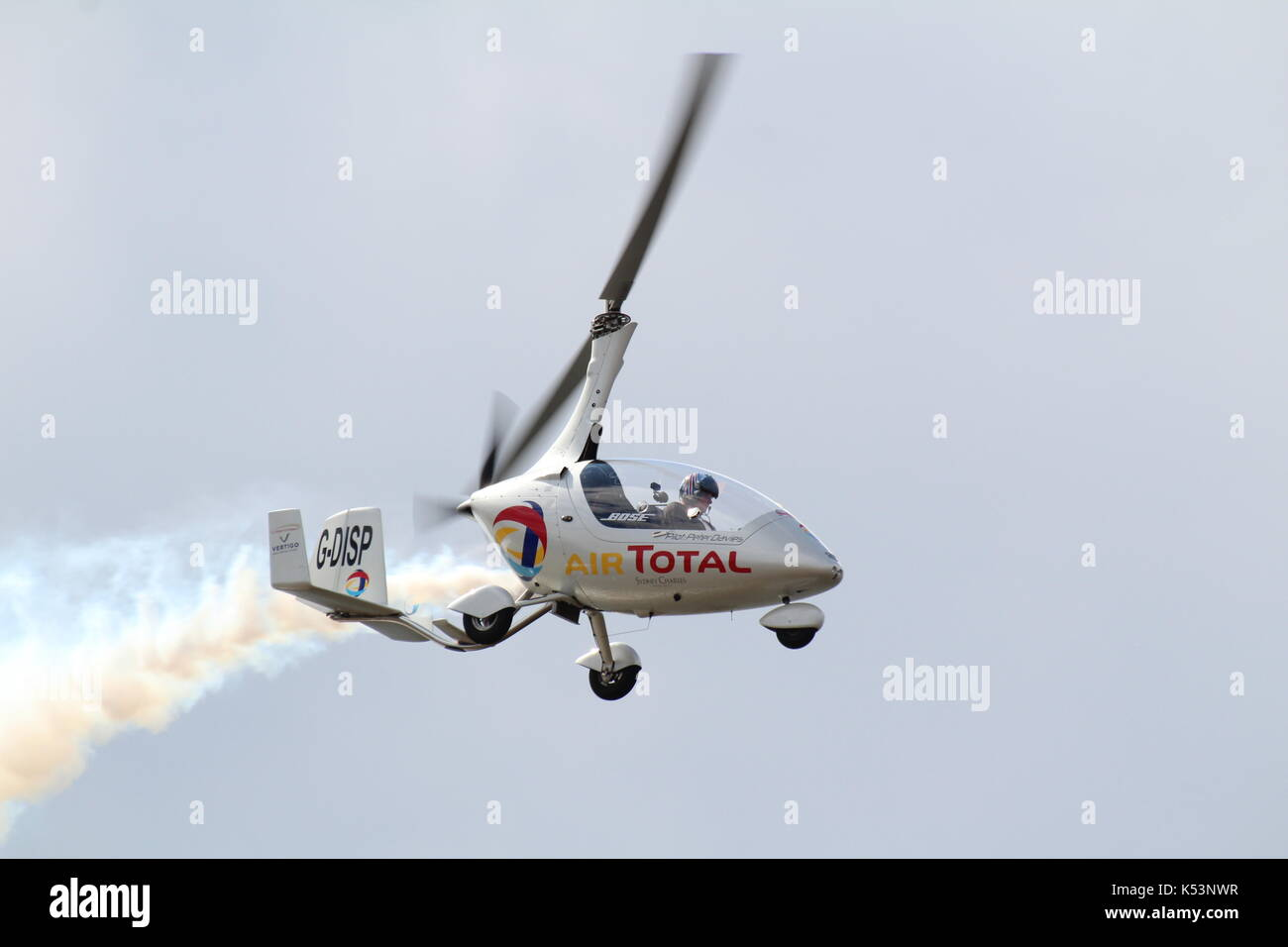 G-DISP, a RotorSport UK Calidus autogyro piloted by Peter Davies, performing at the Scottish International Airshow Stock Photo