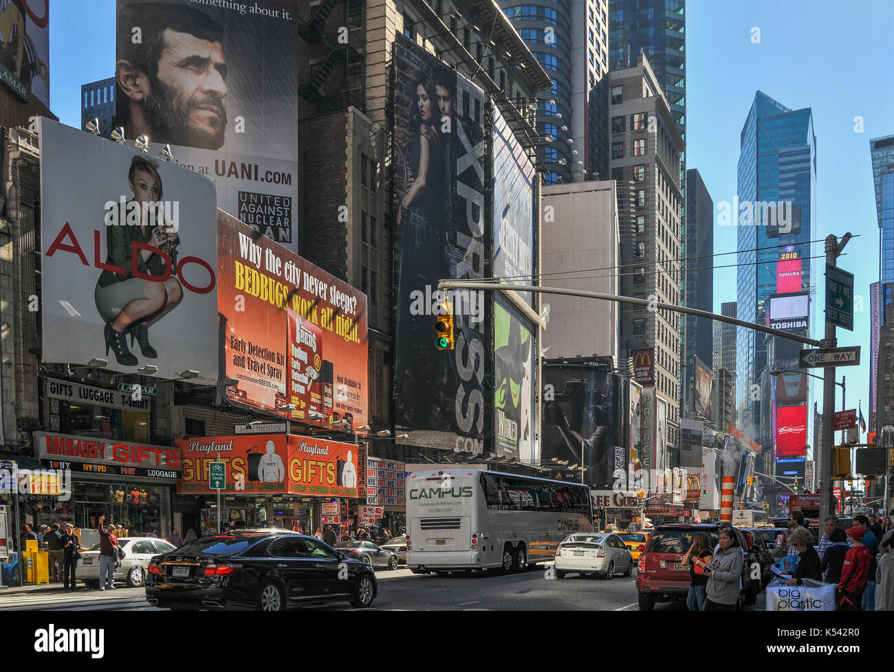 Times Square, USA, New York, NYC, Manhattan - Stock Image