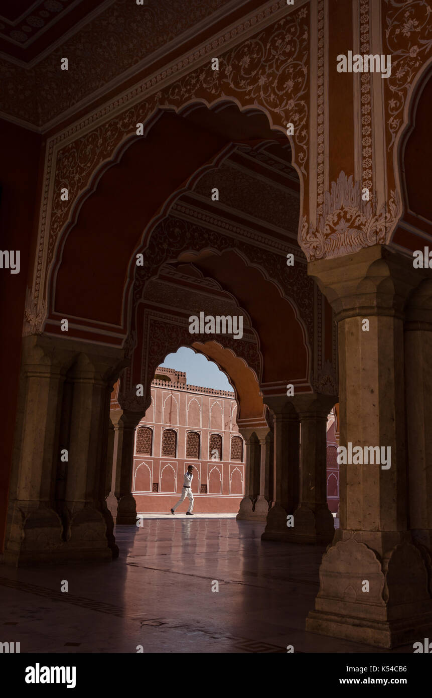 The Chandra Mahal, Jaipur, Rajasthan, India Stock Photo
