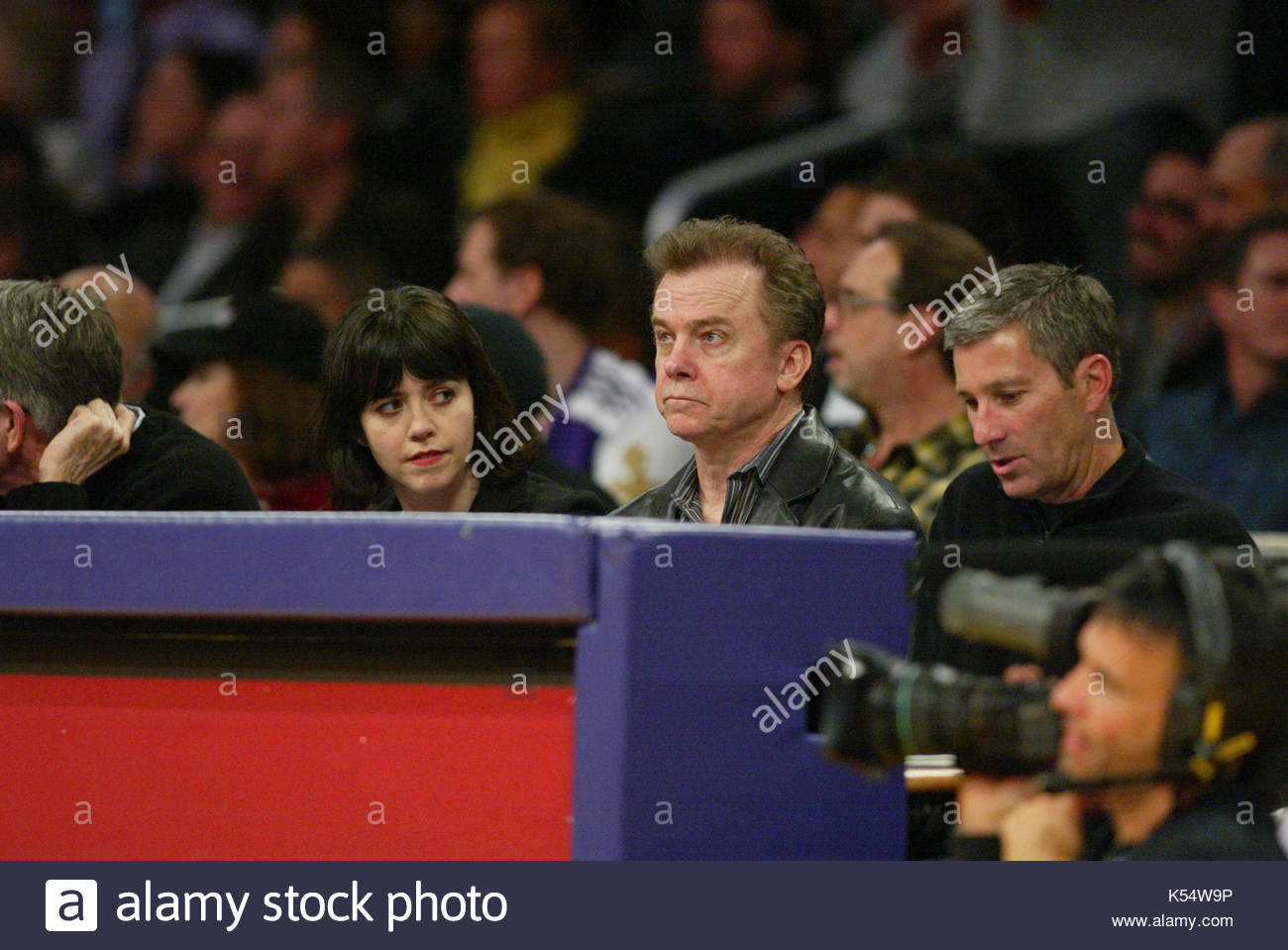 Michael O'Keefe. Michael O'Keefe watching the LA Lakers game. The Houston Rockets defeated the Los Angeles - Stock Image