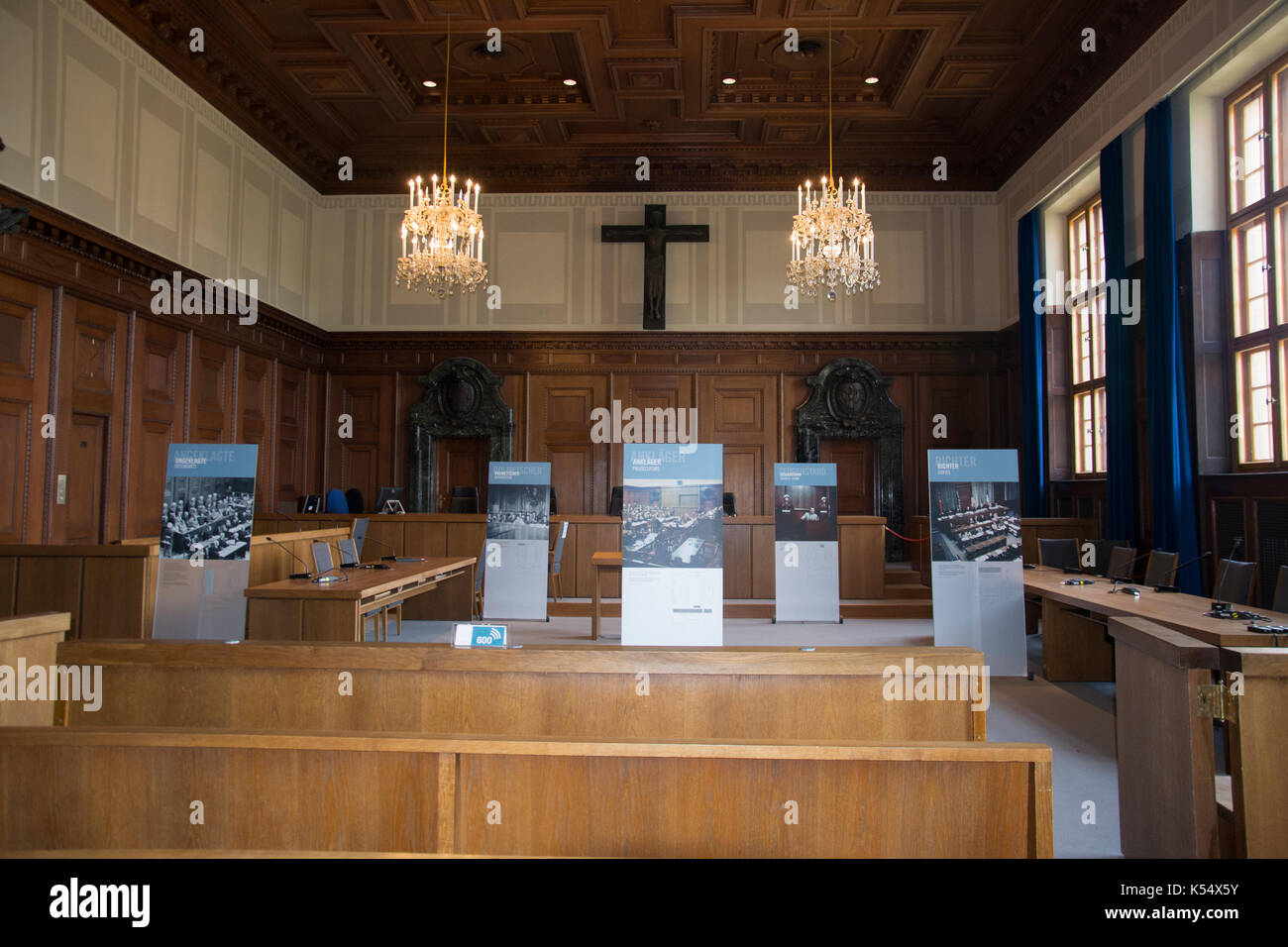 Nuremberg Palace of Justice, the venue for the post-War criminal trials of Nazi leaders - Stock Image