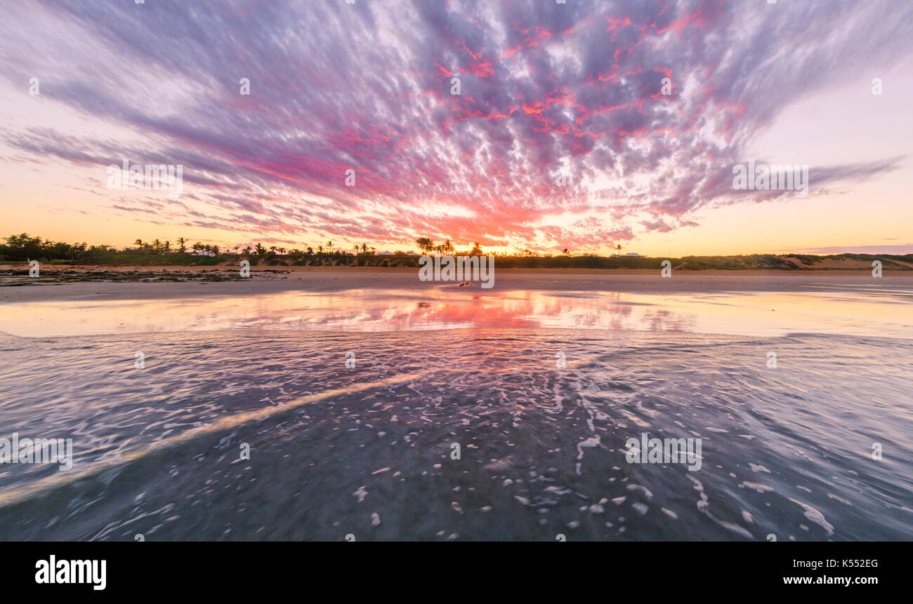 Cable Beach at sunrise. Broome Stock Photo