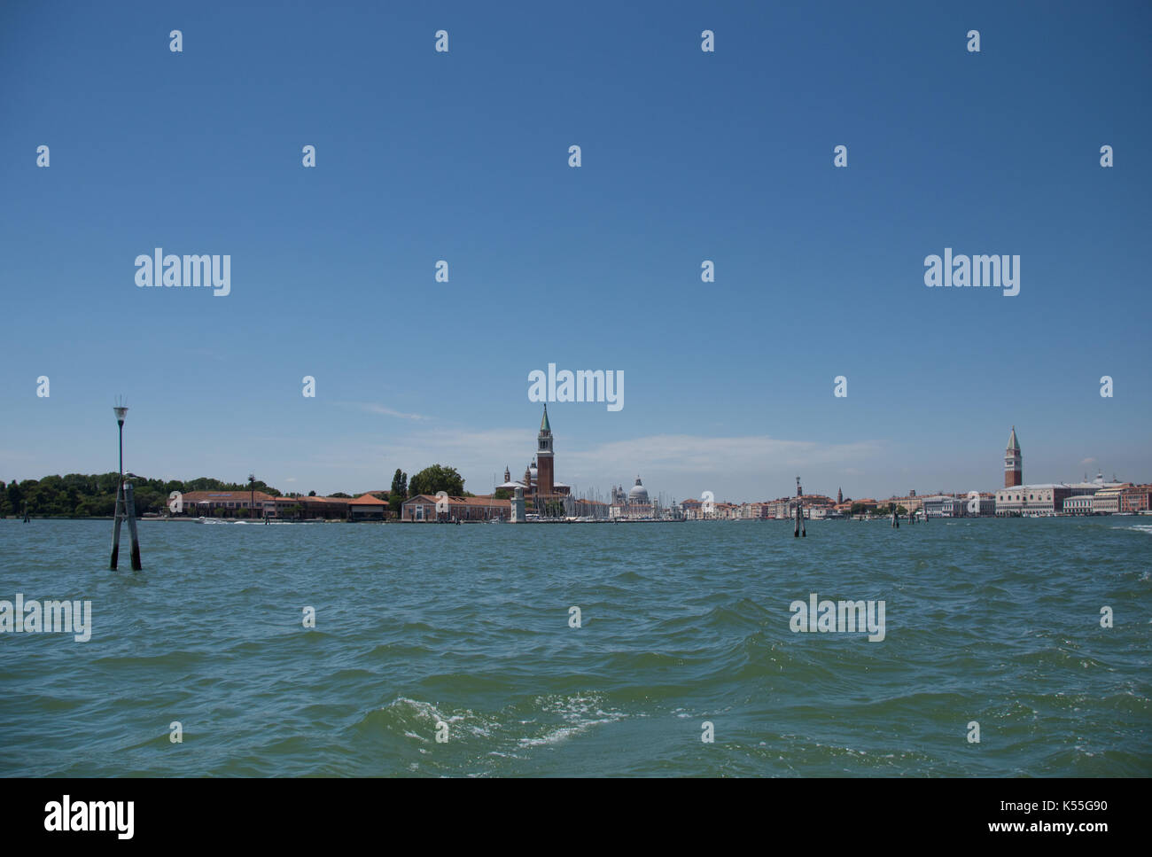 A trip to the ancient city of Venice, Romantic getaway in the sea , picturesque buildings, canals and waterways - Stock Image