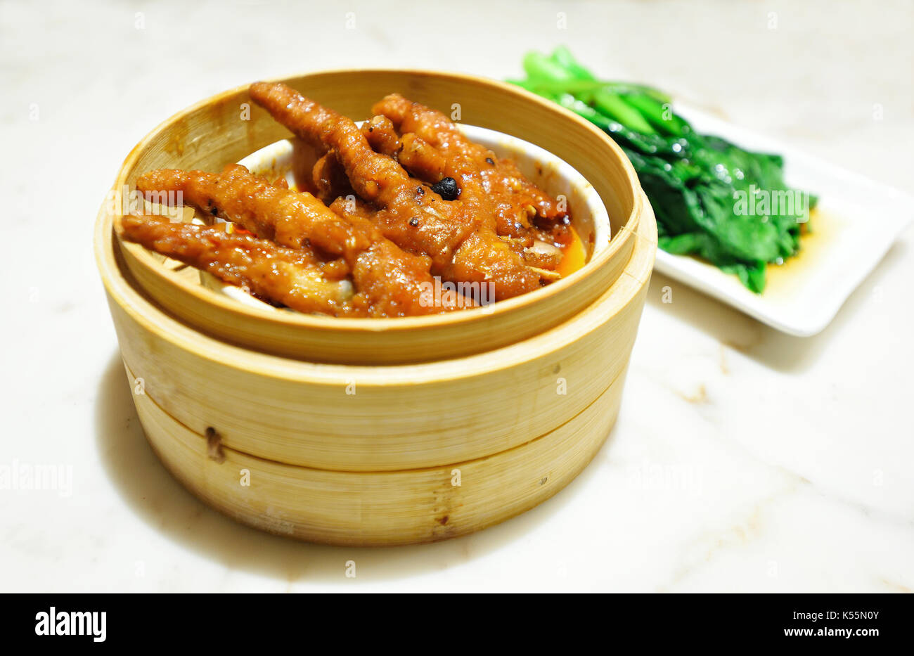 chinese food,chicken claw - Stock Image