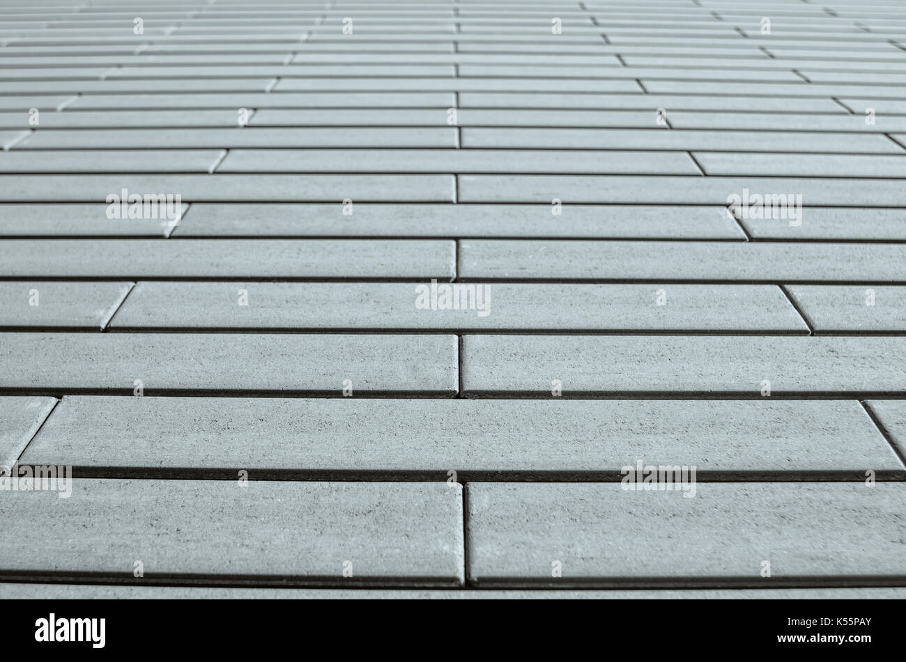 Gray brick wall in perspective. Template for design. - Stock Image