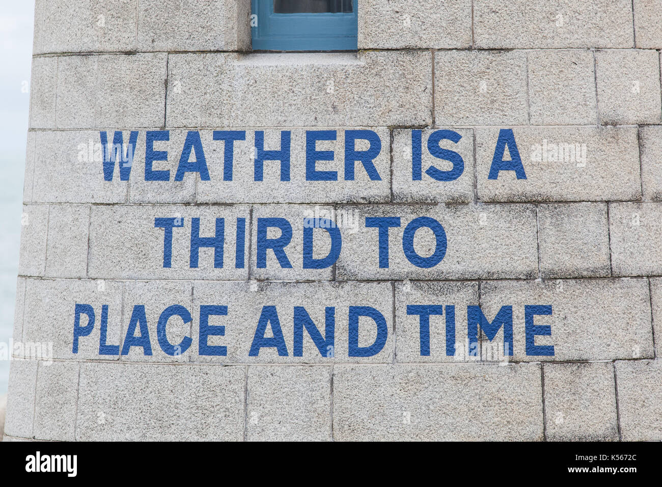Folkestone Triennial 2014: Weather is a Third to Place and Time by Ian Hamilton Finlay - Stock Image