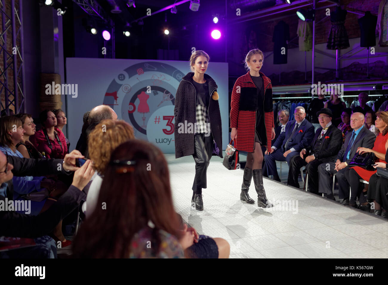 St. Petersburg, Russia - September 14, 2015  Fashion show at the opening 18ed947bcf4
