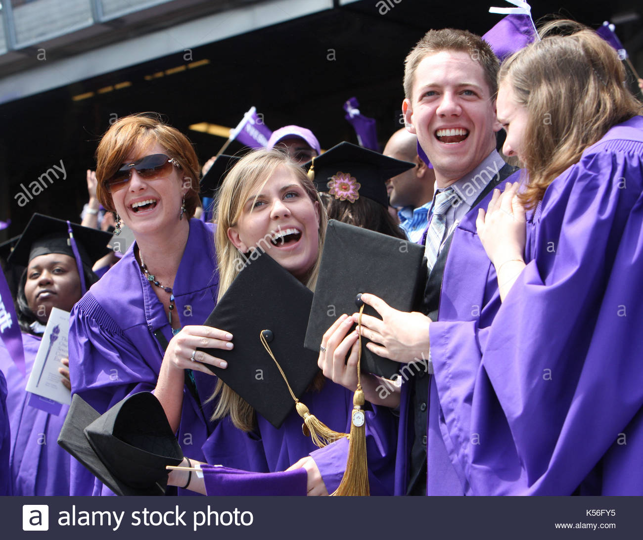 Purple And Black Grduation Gown Stock Photos & Purple And Black ...