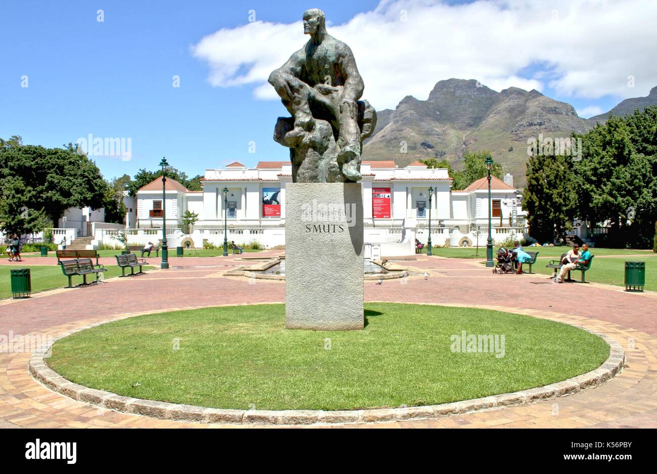 Statue of General Jan Christian Smuts in Cape Town - Stock Image