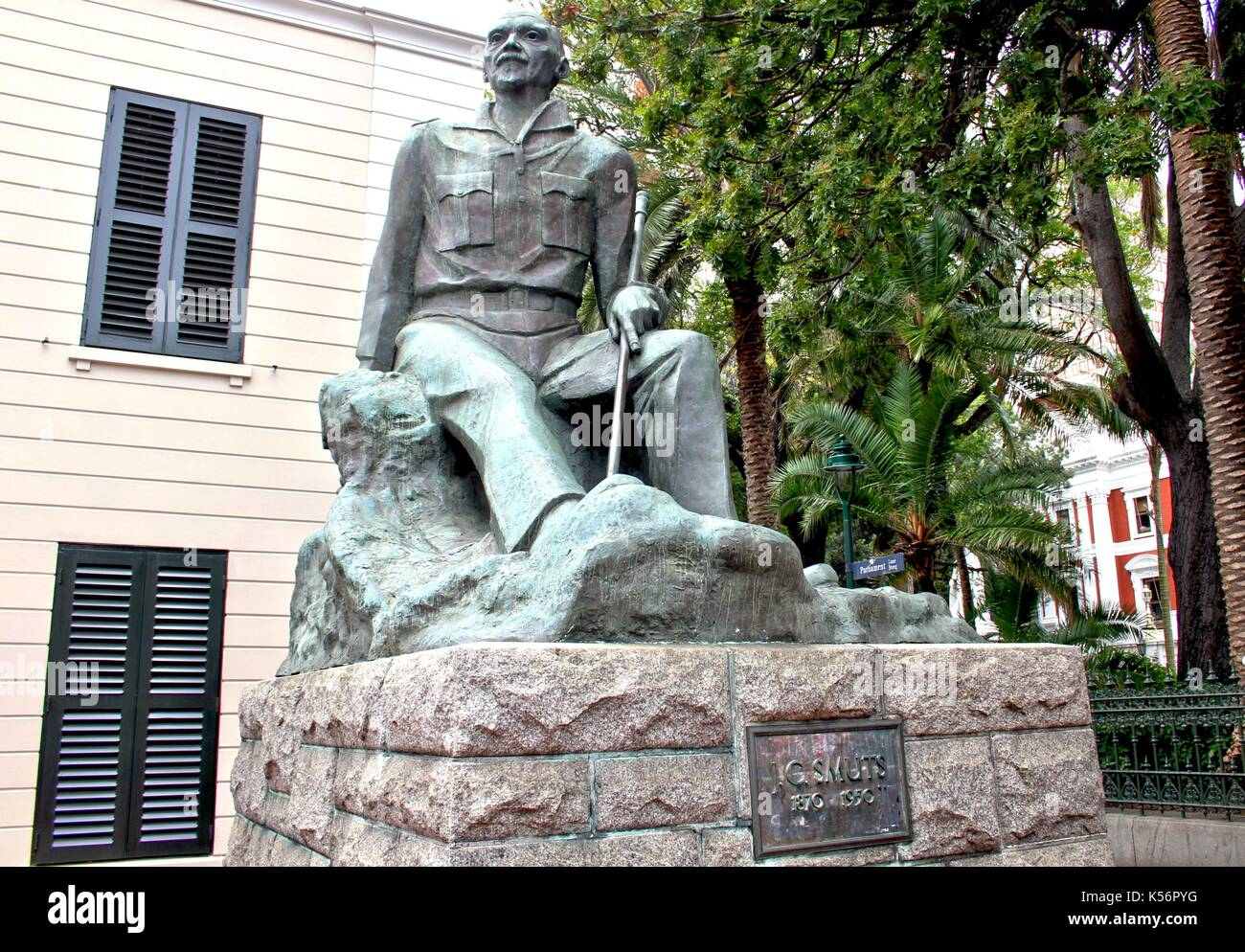 Statue of General Jan Christian Smuts in Cape Town Stock Photo