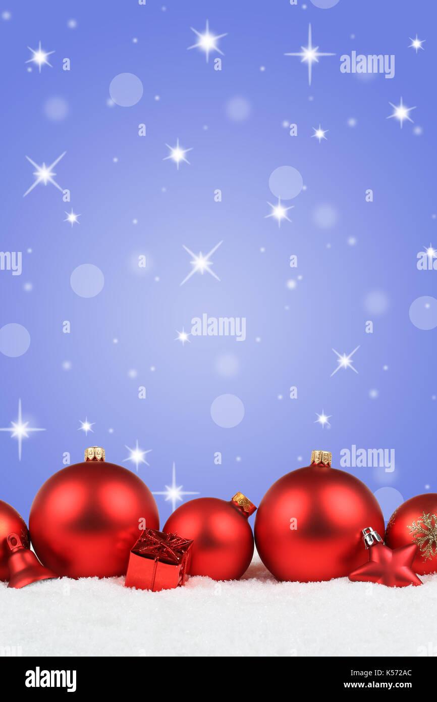 Christmas Background Portrait.Christmas Balls Red Decoration Portrait Format Snow Winter