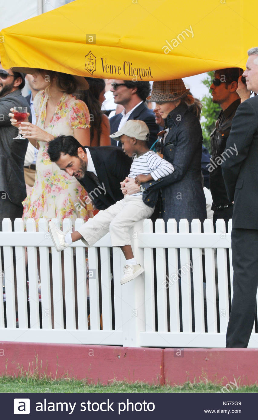 047d16f6366a3 Marc Jacobs, David Banda and Madonna. Celebrities on Governor s Island at  the 2nd Annual Veuve Cliquot Charity Polo Match to watch Prince Harry.