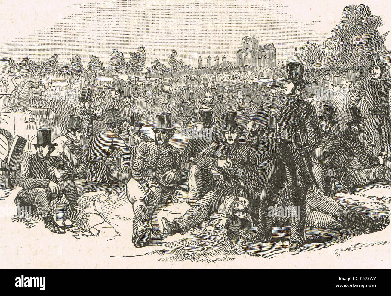 Chartist agitation, Police force, Bonner's Fields, 1848 - Stock Image