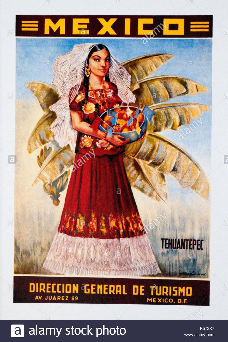 """Nice Vintage /""""Mexico-Vera Cruz/"""" Poster"""