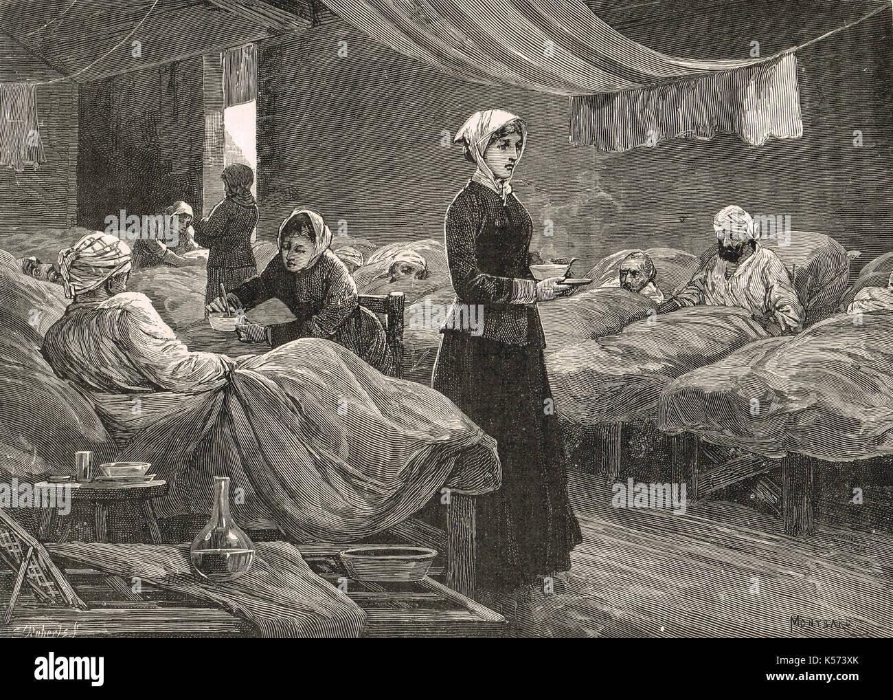 Scutari Hospital, Crimea, Crimean war - Stock Image