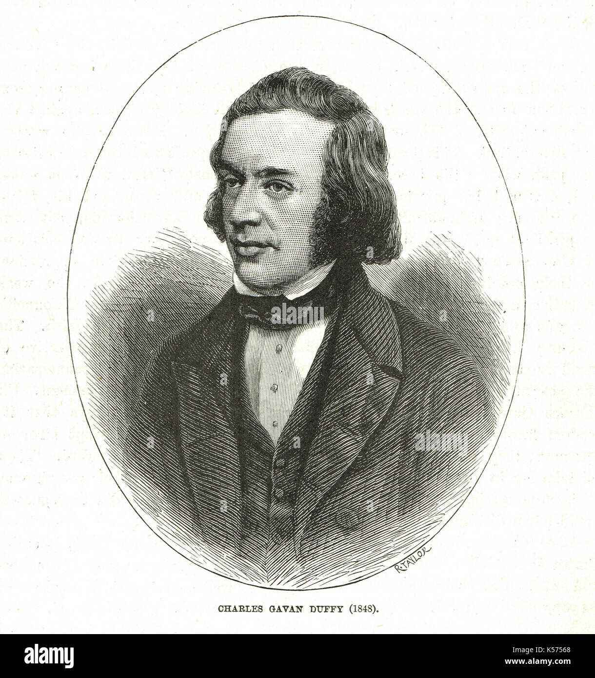 Charles Gavan Duffy 1816-1903, Irish radical & later Premier of Victoria  in Australia - Stock Image