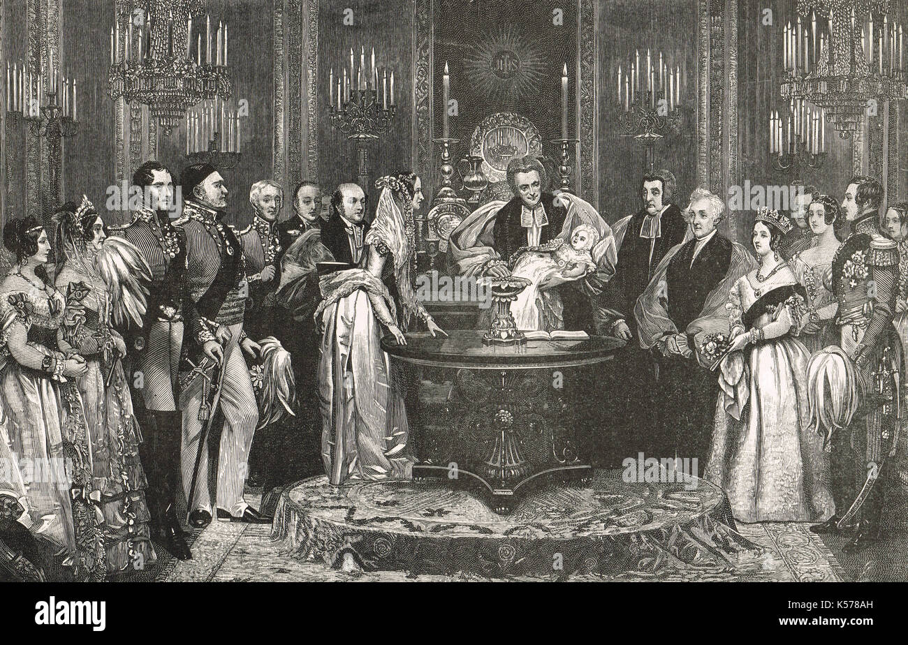 The Christening of Victoria, Princess Royal, 10 February 1841 - Stock Image