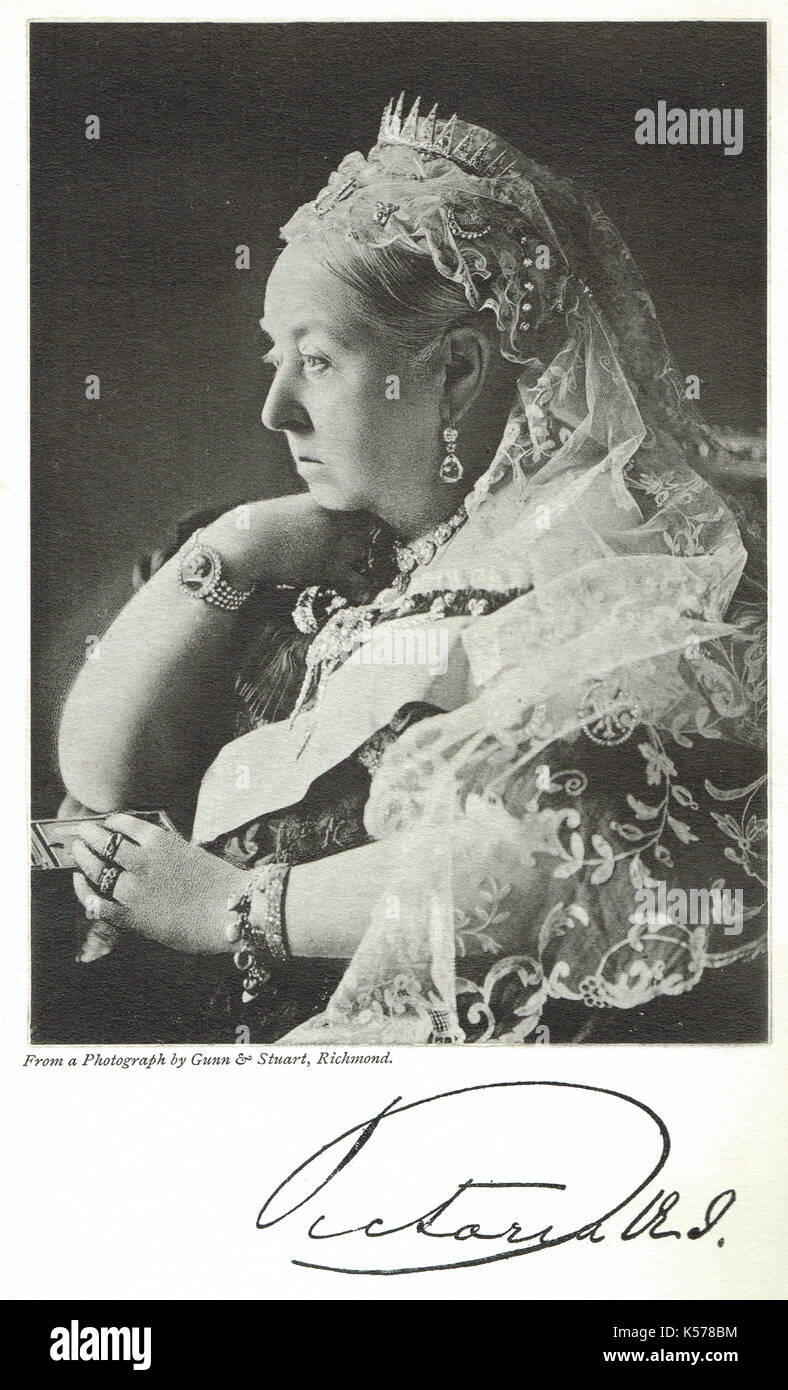 Queen Victoria in the 60th year of her reign, 1896 - Stock Image