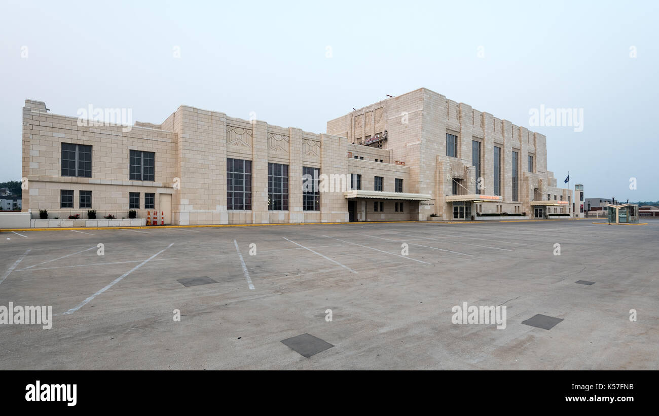 Art Deco Union Station in Omaha, Nebraska Stock Photo