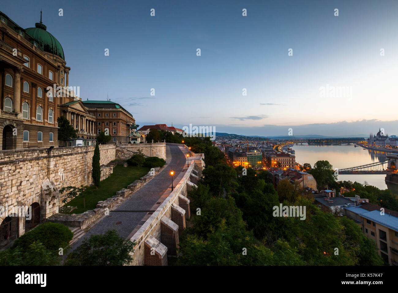 Buda castle and historic town centre of Budapest, Hungary. - Stock Image