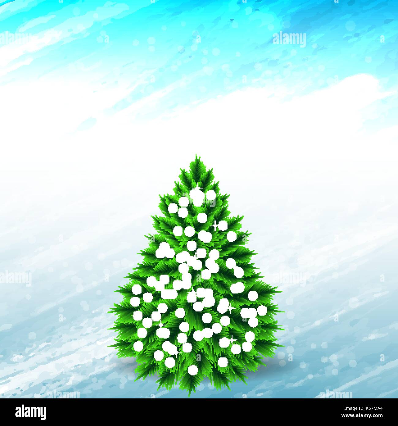 Abstract Christmas background. - Stock Vector