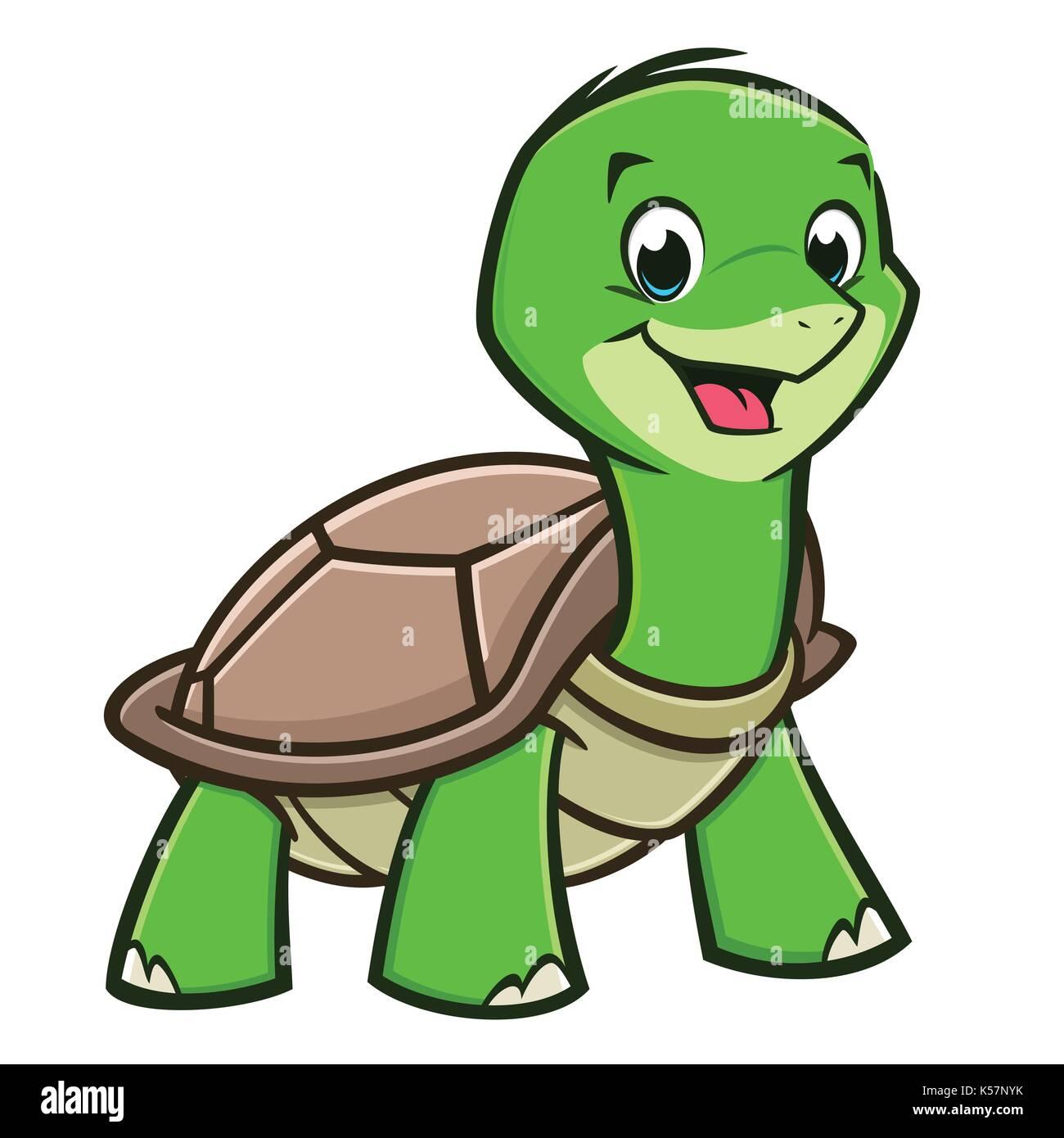 Cartoon Baby Turtle Stock Vector Image Art Alamy
