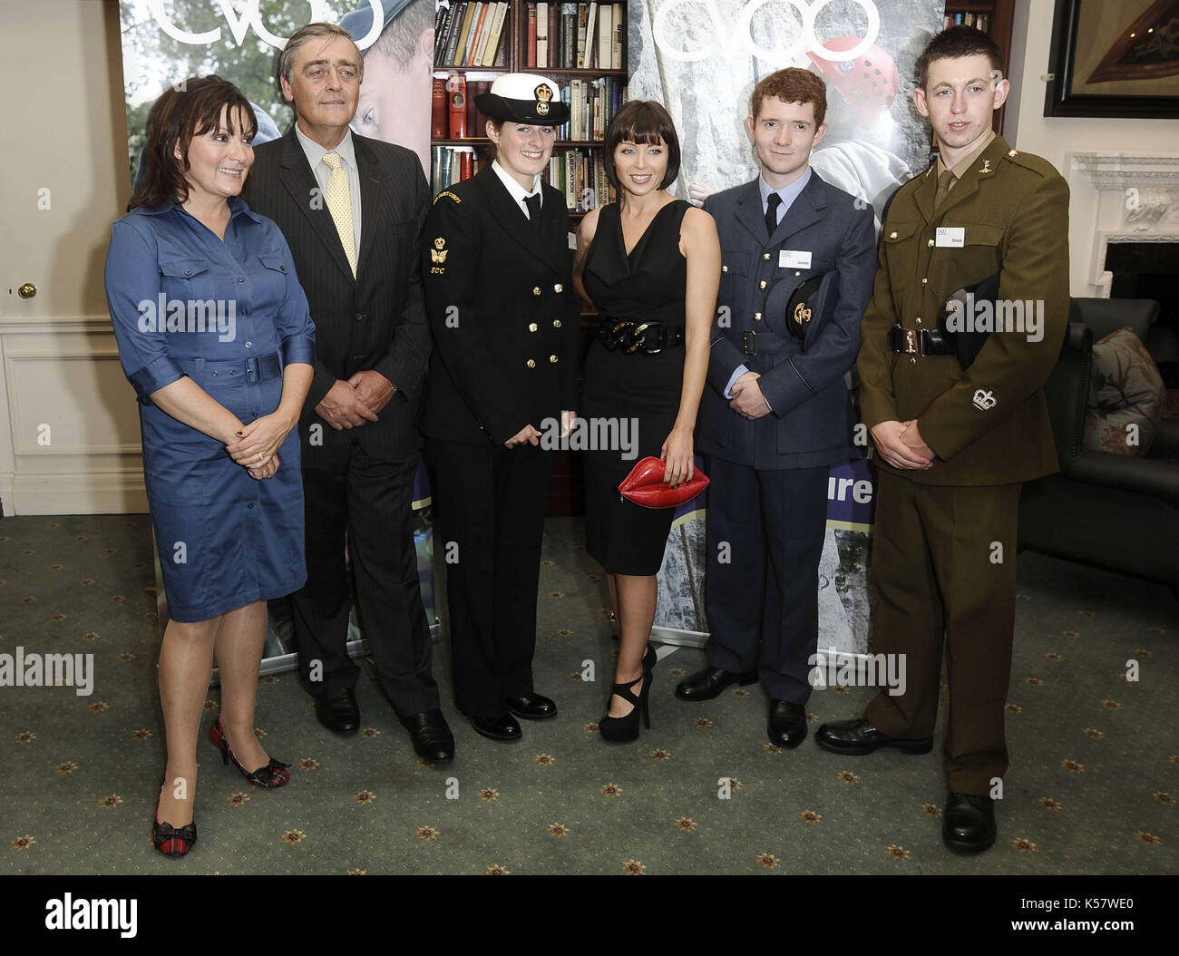 Photo Must Be Credited ©Alpha Press 072476 06/10/09 Lorraine Kelly, The Duke of Westminster and Dannii Minogue at launch of an appeal to support education of young people at the Cavalry and Guards Club in London - Stock Image