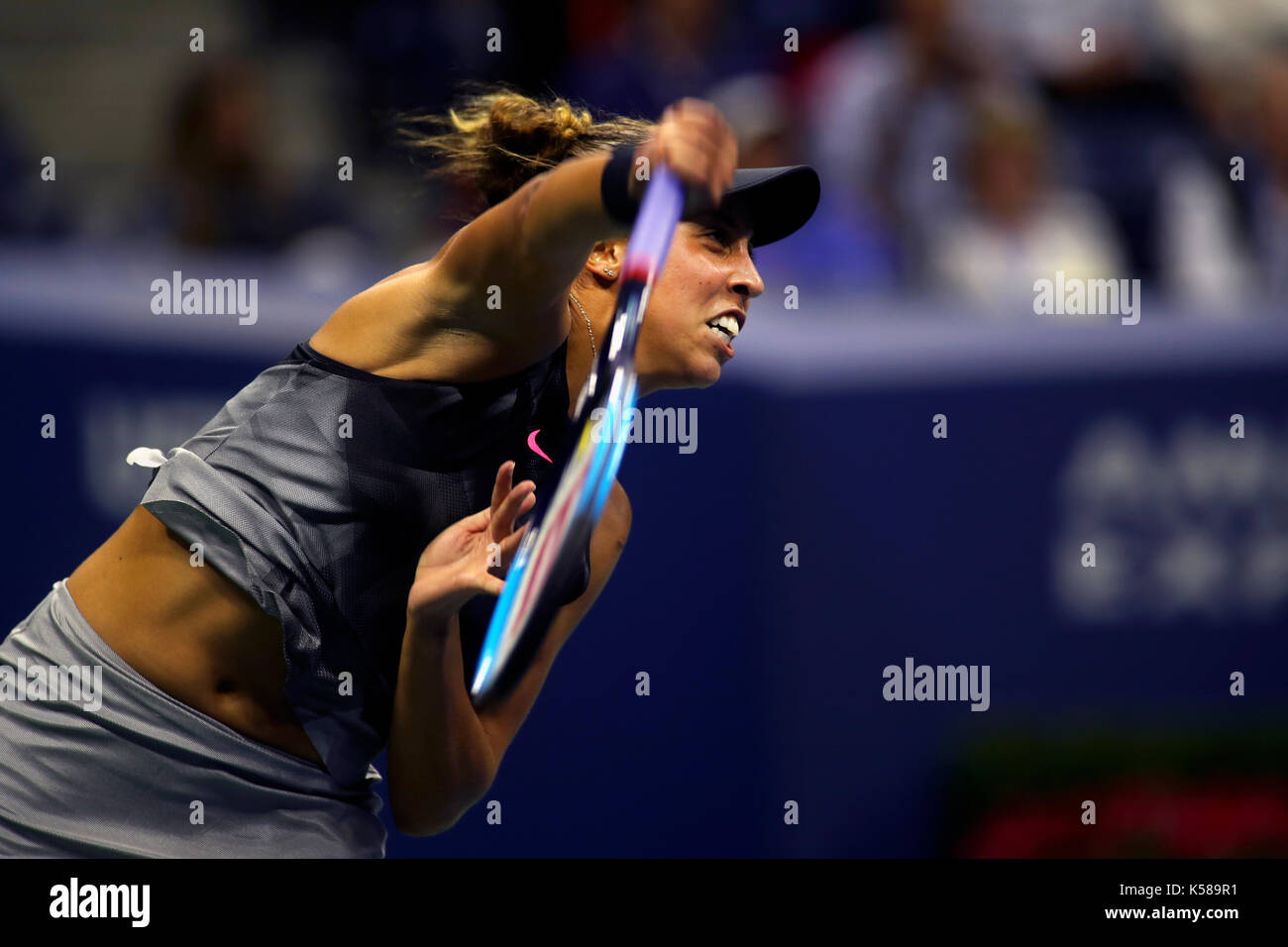 New York, United States. 07th Sep, 2017. US Open Tennis: New York, 7 September, 2017 - Madison Keys of the United - Stock Image