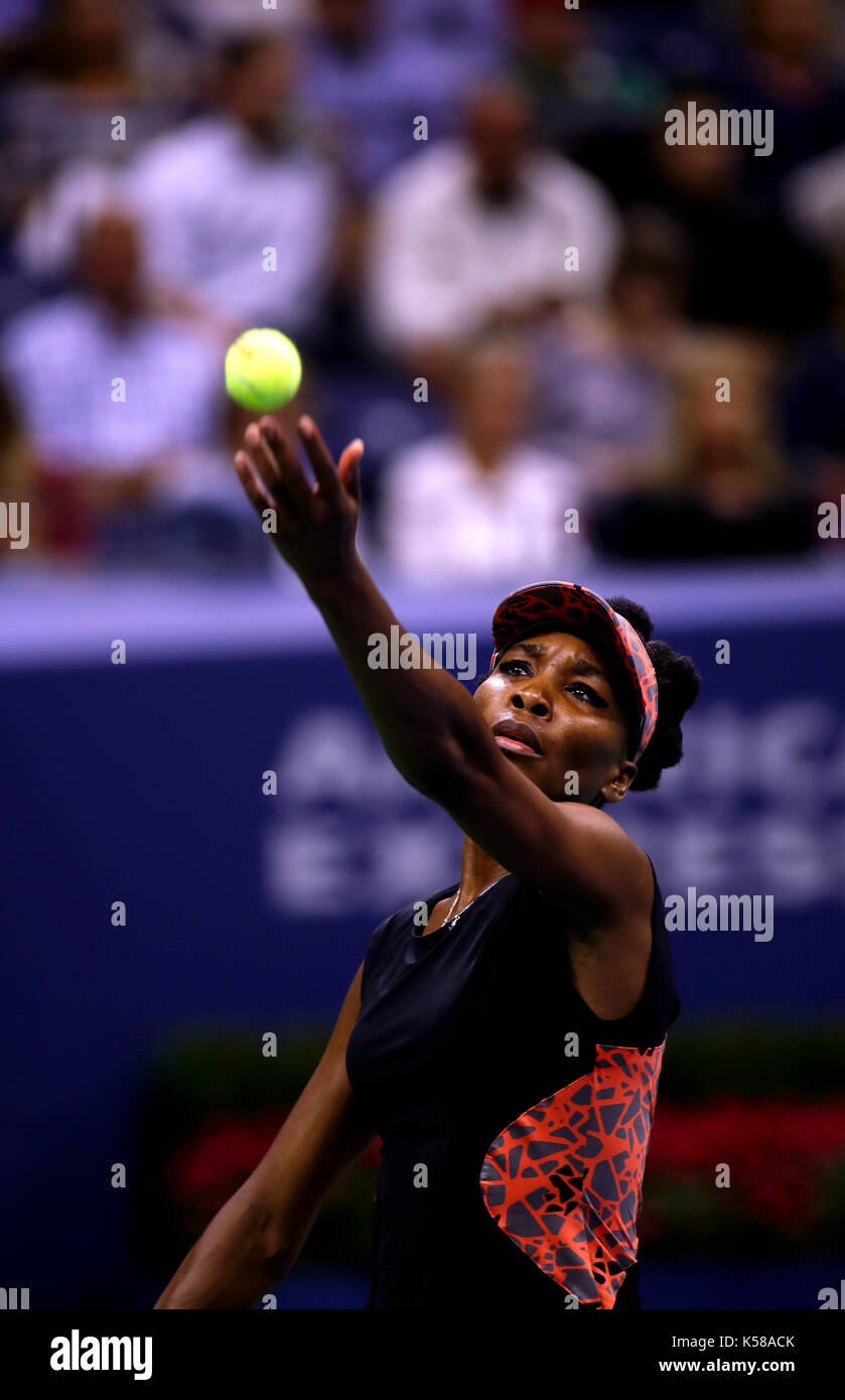 New York, United States. 07th Sep, 2017. US Open Tennis: New York, 7 September, 2017 - Venus Williams of the United - Stock Image