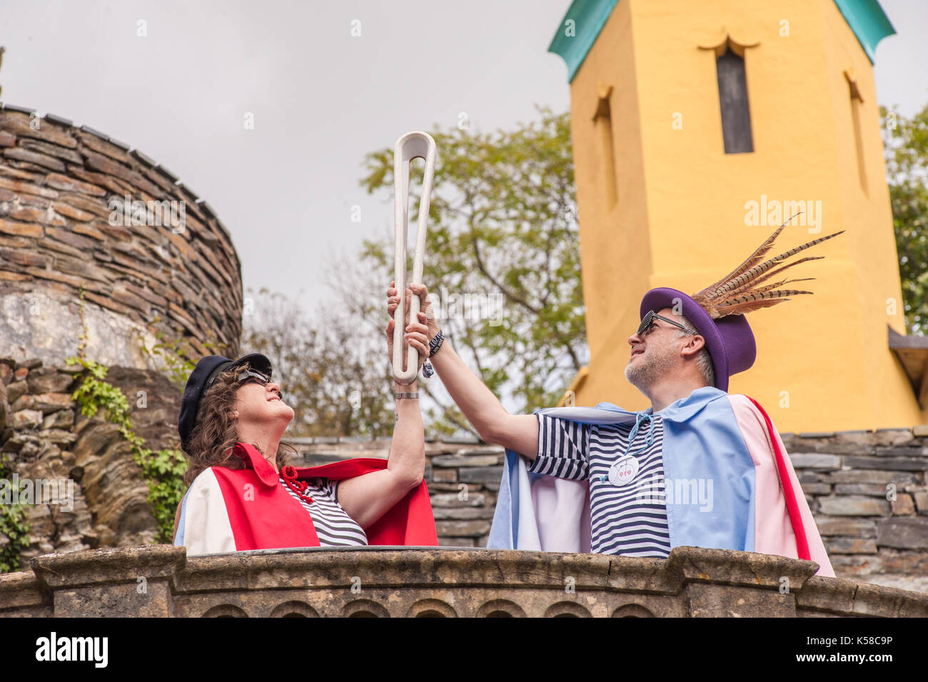 Portmeirion, Wales, UK. 8th September, 2017. Festival Fun at Festival No.6, Portmeirion, Wales, UK. 8th Sep, 2017. Stock Photo
