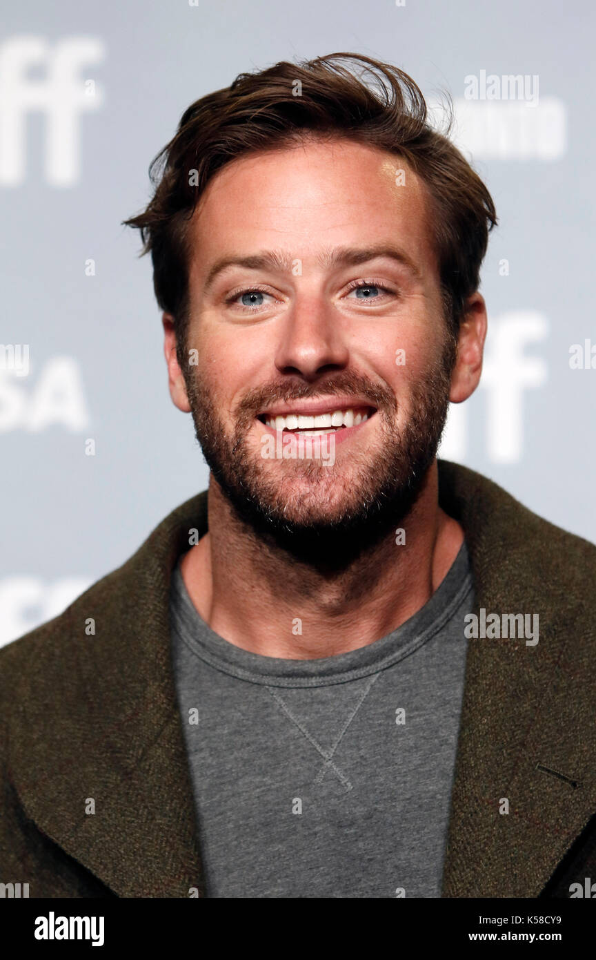 Toronto, Canada. 08th Sep, 2017. Armie Hammer during the ...