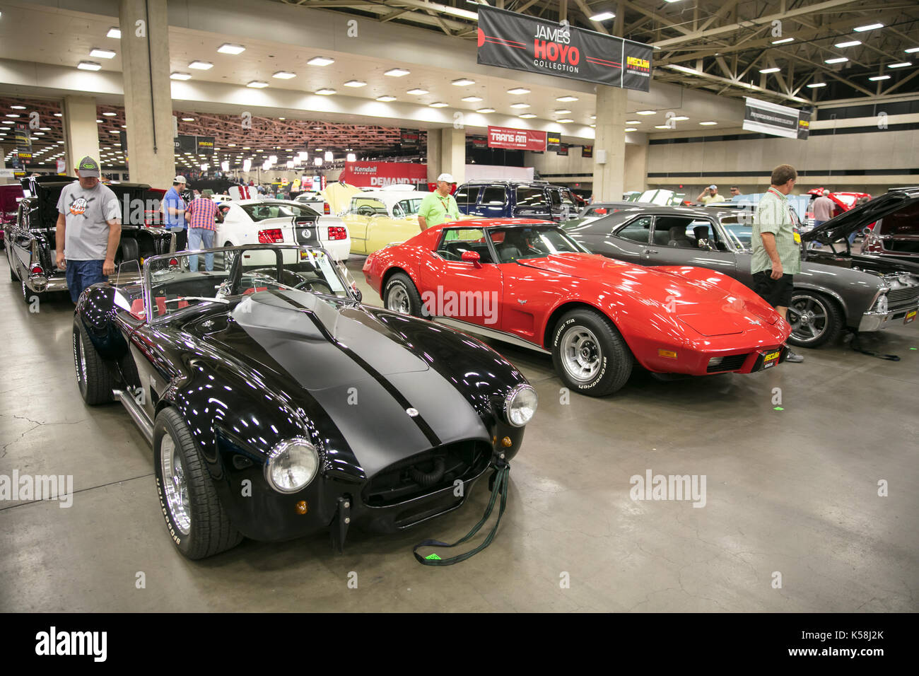 Dallas, USA. 8th Sep, 2017. Cars are displayed during a car auction ...