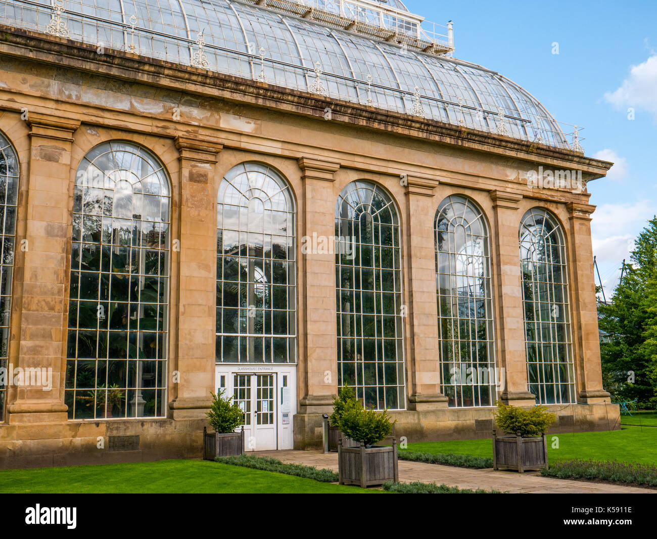 The Glass Houses, Royal Botanic Garden Edinburgh, Edinburgh, Scotland - Stock Image