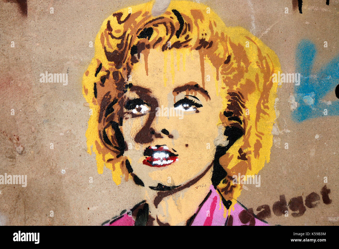 Marilyn Monroe Street Art Stock Photos & Marilyn Monroe Street Art ...