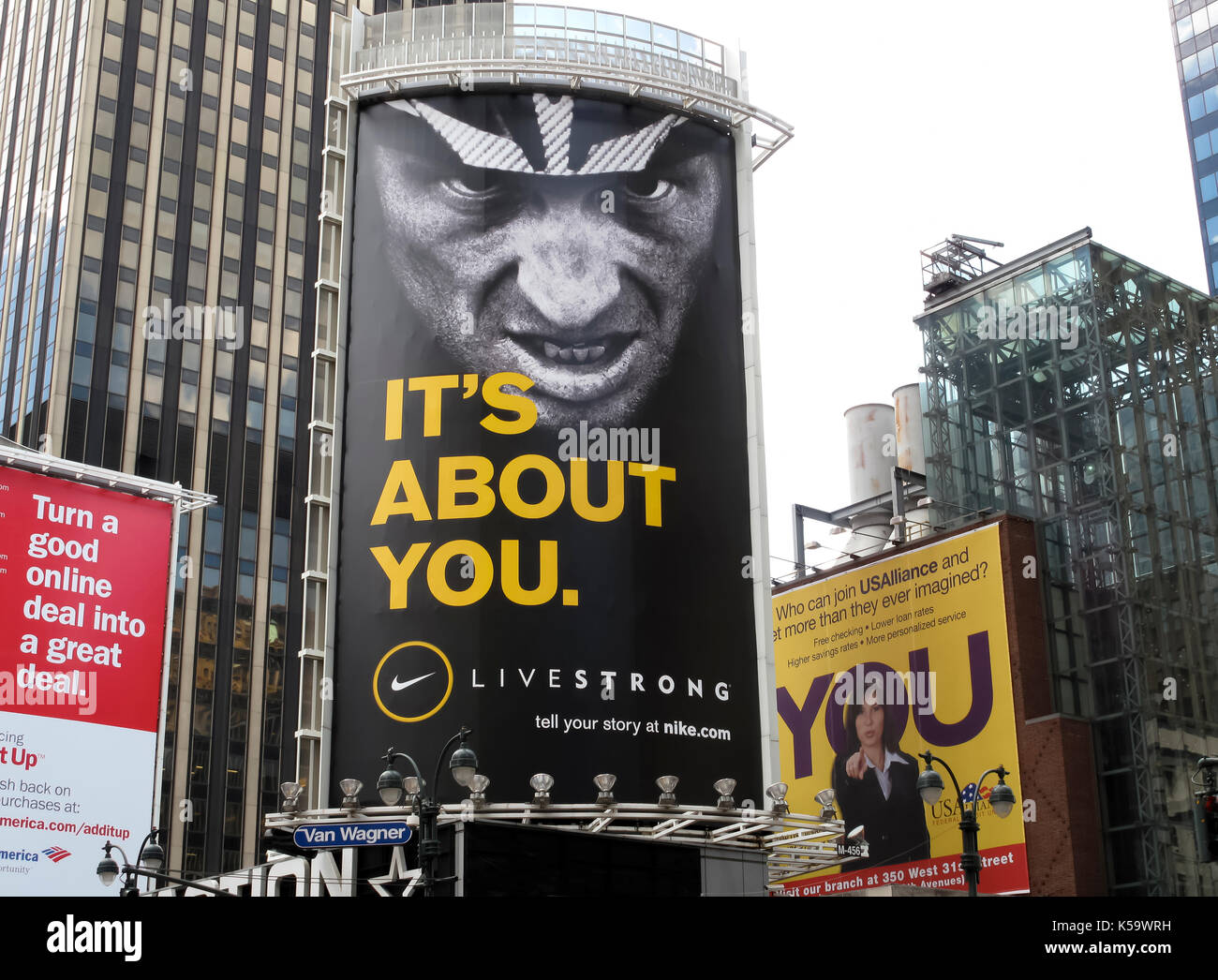 Billboard, 'It's About You' by Nike brand. - Stock Image