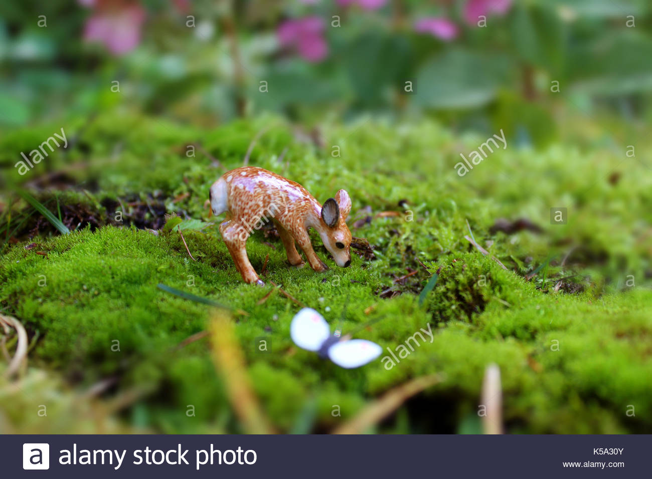 Mystical Deer Garden - Stock Image