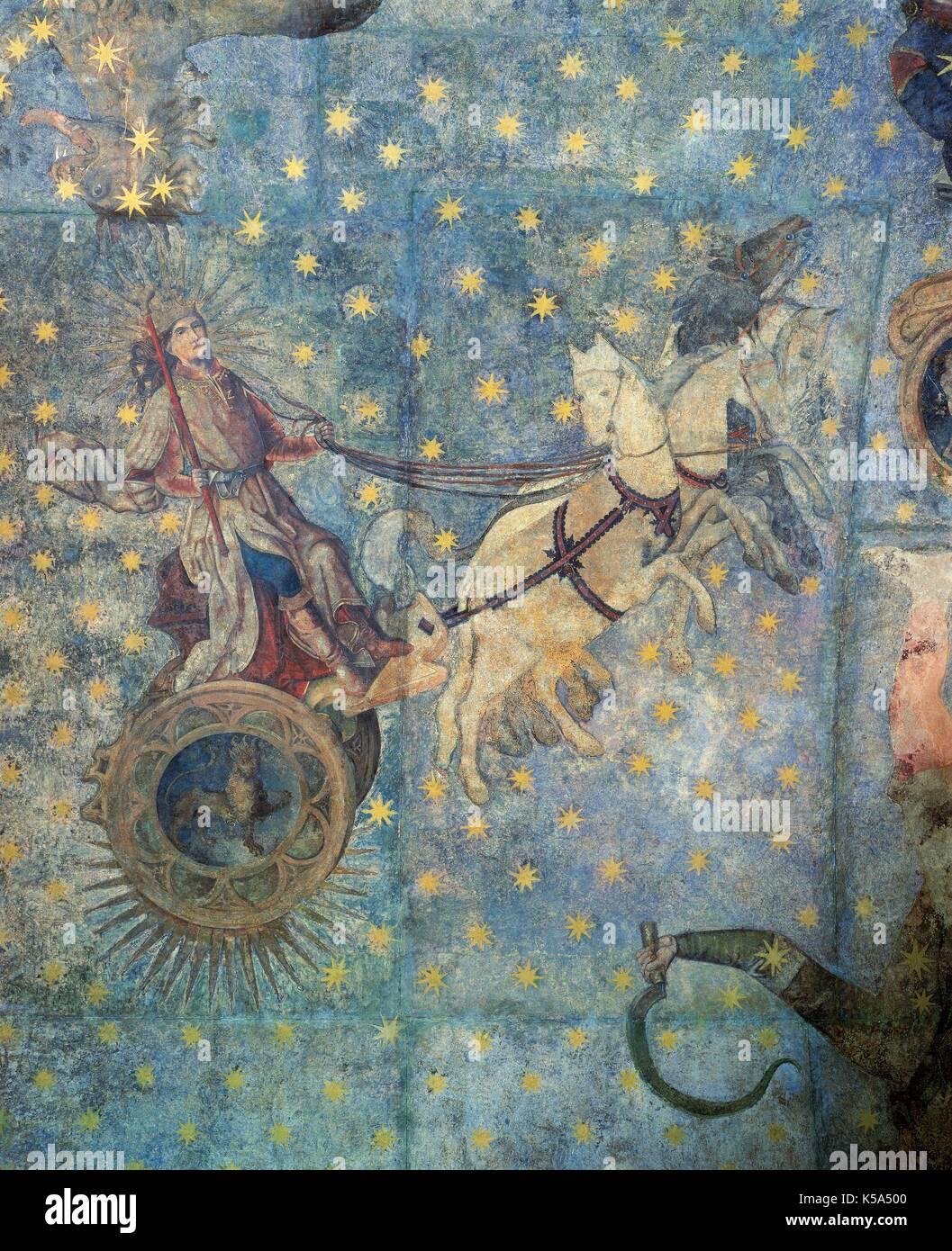 Gothic Period Dome Of The Zodiac 1485 By Fernando Gallego 1440