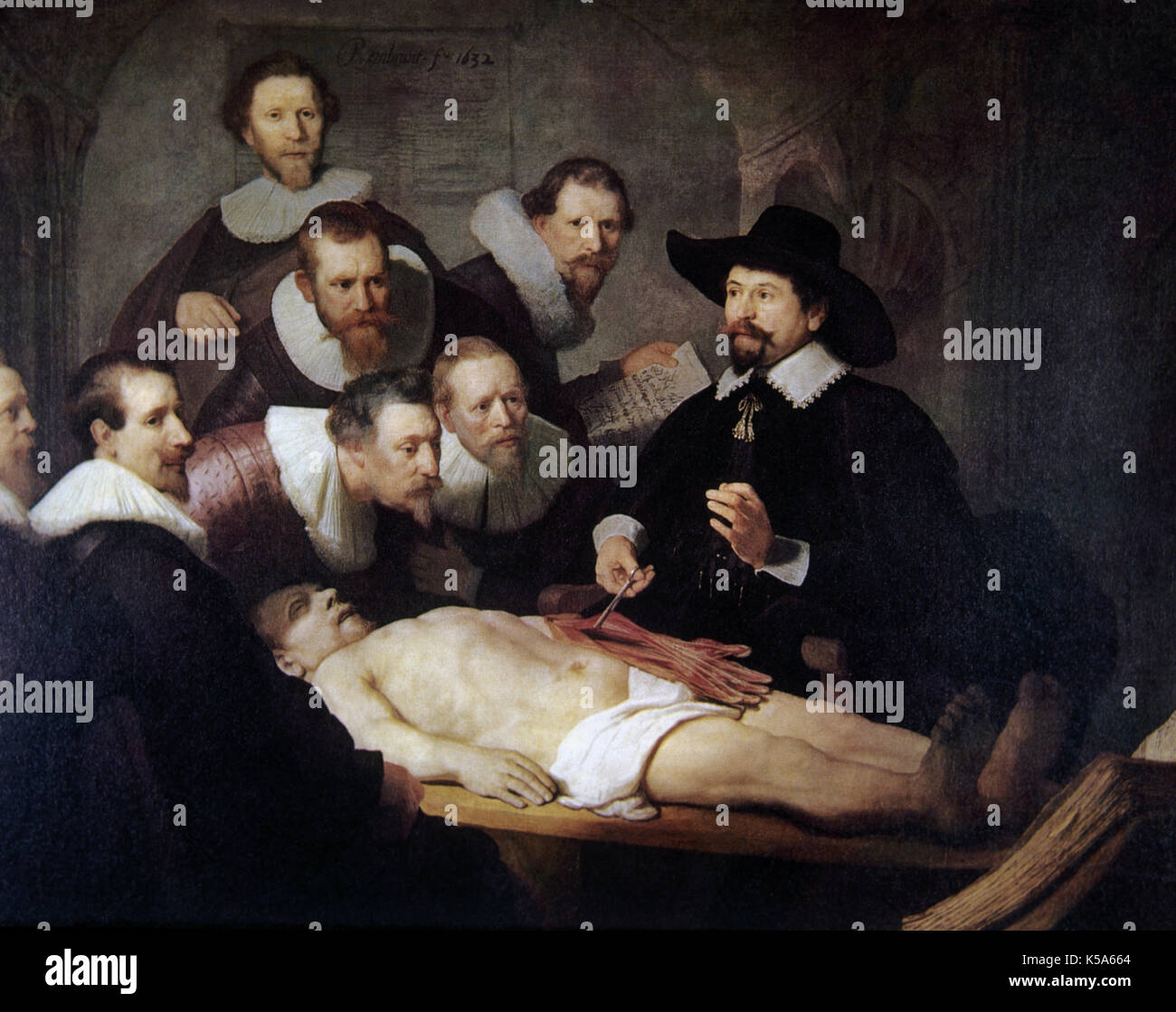 The Anatomy Lesson of Dr. Tulp. Copy by a disciple of Rembrandt ...