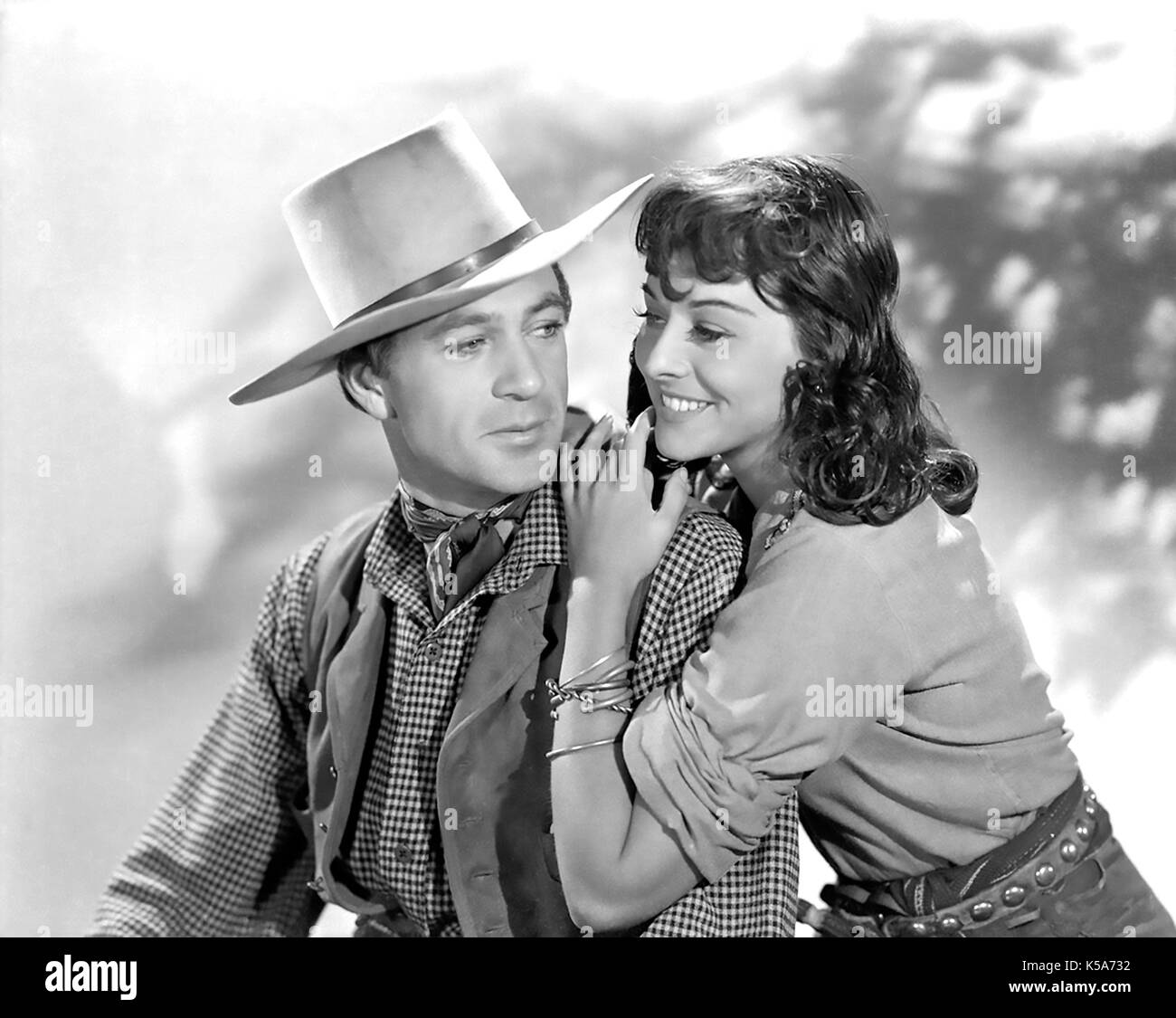 NORTH WEST MOUNTED POLICE 1940 Paramount Pictures film with Gary Cooper  and Paulette Goddard - Stock Image