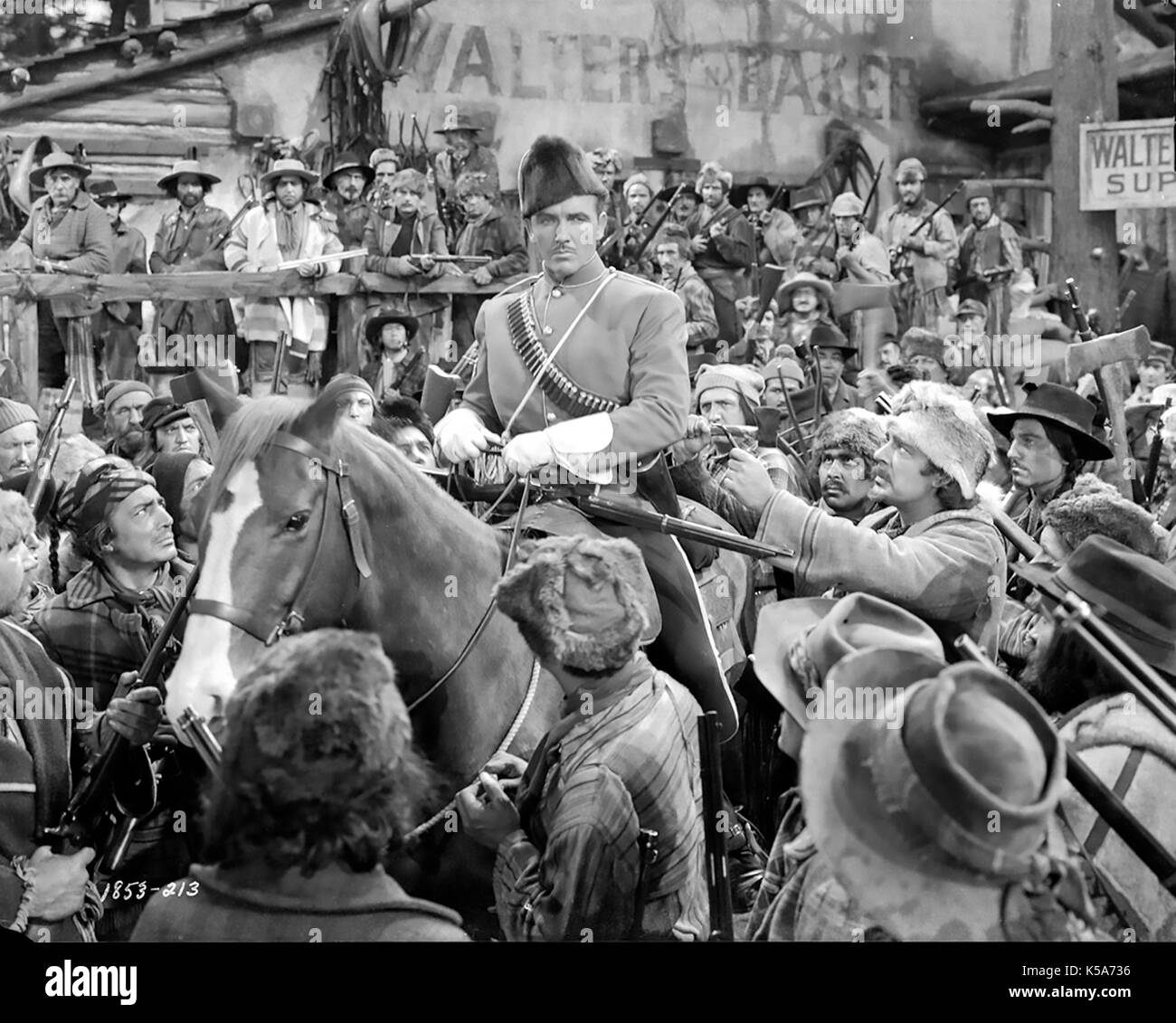 NORTH WEST MOUNTED POLICE 1940 Paramount Pictures film with Preston Foster - Stock Image