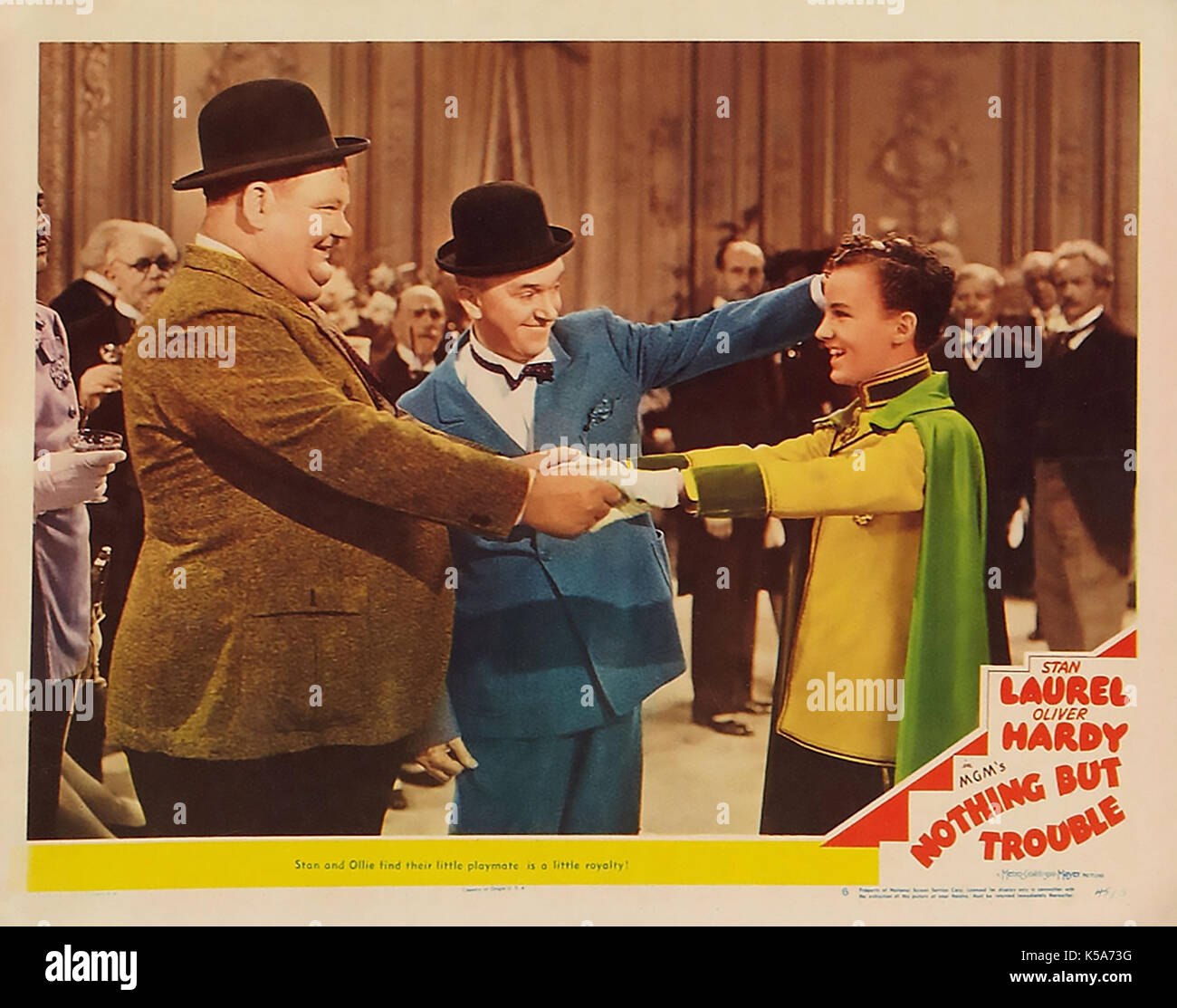 NOTHING BUT TROUBLE 1944 MGM film with Laurel and Hardy - Stock Image