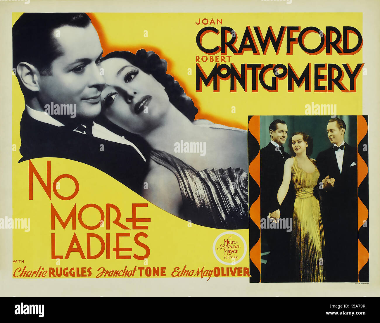 NO MORE LADIES 1935 MGM film with Joan Crawford and Robert Montgomery - Stock Image