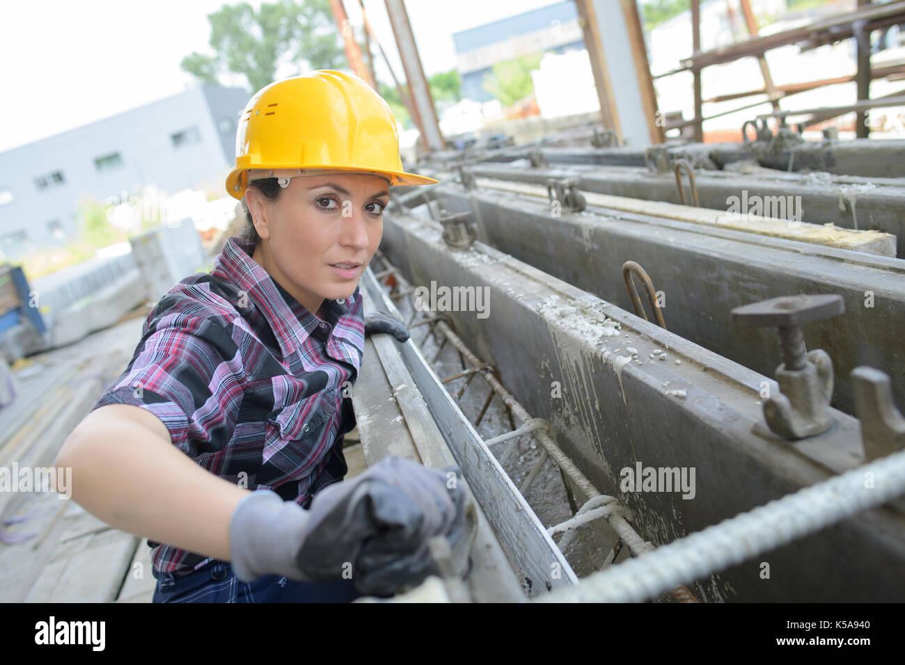 confident female engineer Stock Photo
