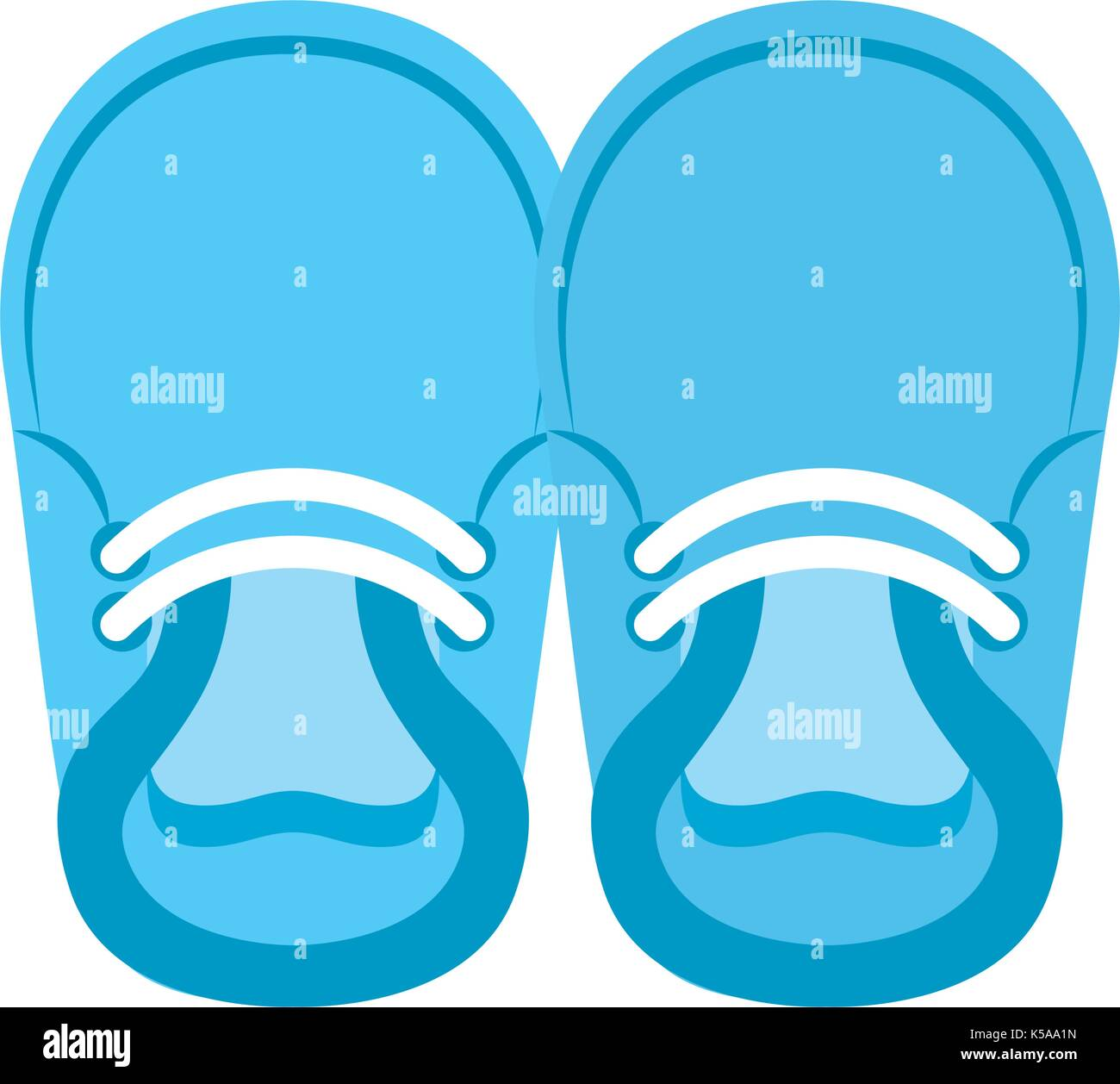 Baby Booties For Boy Child Cute Image Stock Vector Image Art Alamy