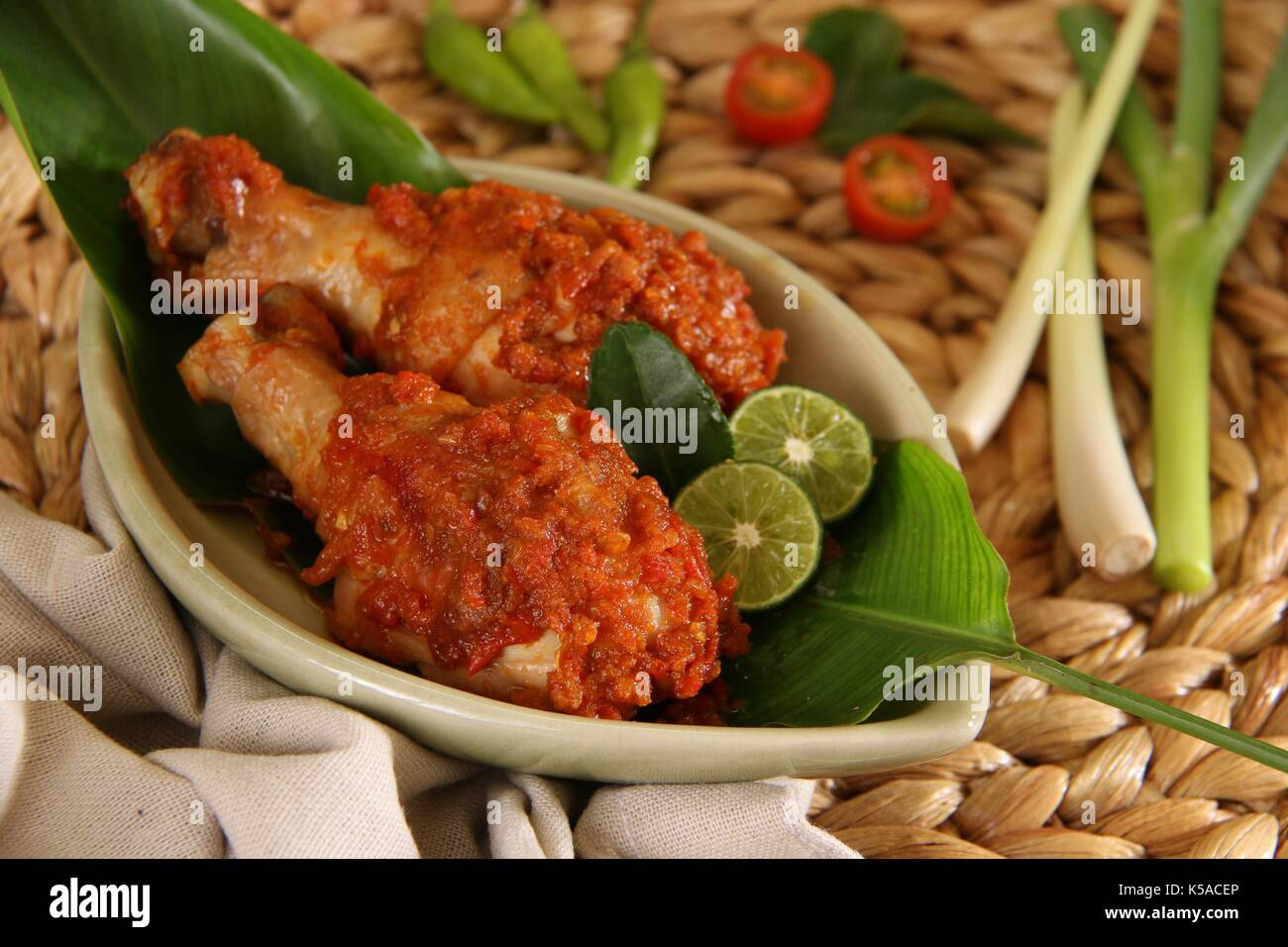 Ayam Rica Rica The Traditional Spicy Chicken Dish From Manado Stock Photo Alamy