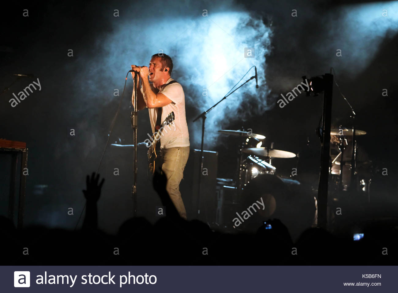 Trent Reznor. Nine Inch Nails in concert as part of the \'Wave Stock ...