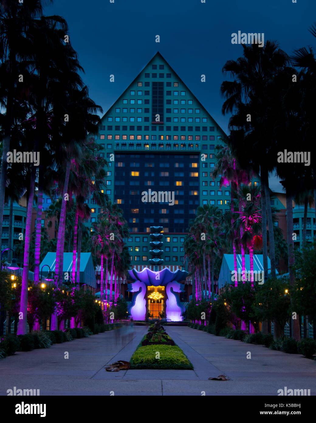 Dolphin Hotel at Walt Disney World in Orlando, FL Stock Photo