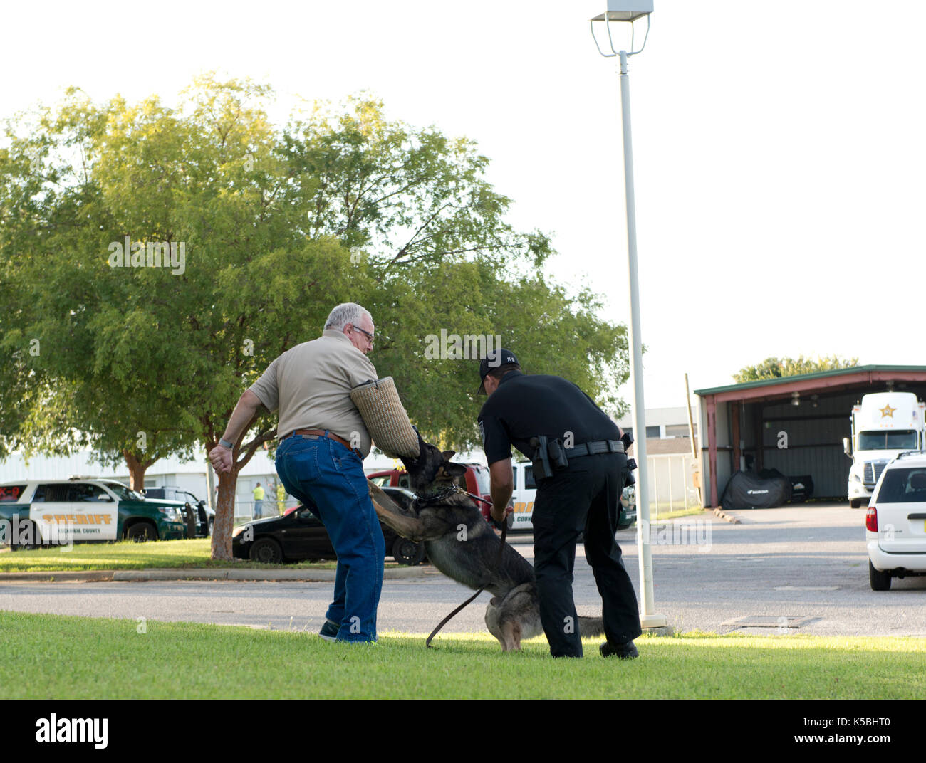Police K-9 Demonstration at Escambia County Sheriff in Pensacola, Florida - Stock Image