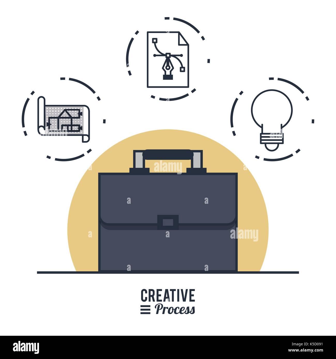 Creative process infographic Stock Vector Art & Illustration ...